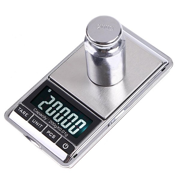 200gx0.01g Mini Digital Scale Portable Weighting Scale Weight Scales LCD Electronic Pocket Case Kitchen Jewelry Diamond Balanca