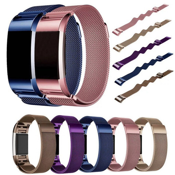 Magnetic Loop Metal Band For Fitbit Charge 2 Samsung Galaxy Gear S3 Wristband Stainless Steel Watch Bracelet Mesh Strap Replacement