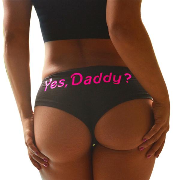 Sous-vêtements sexy pour femmes mode été imprimé sous-vêtements en coton noir et blanc Slips Vêtements sexy pour fille