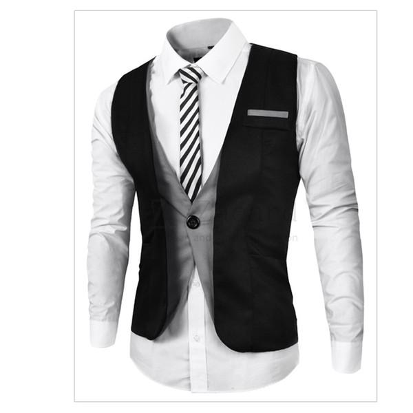 Estilo europeu Plus Size Mens Vest Inglaterra Moda Mens Terno Colete Preço Barato Homens de Negócios Slim Fit Terno Para Homens