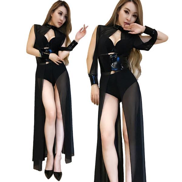 Jazz New Fashion Body Donna DJ Cantanti femminili Dress Stage Nightclubs DS Performance Body Abbigliamento Bar Bra costume Y10611