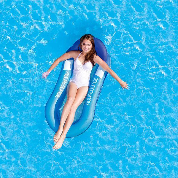 2018 Al aire libre Hamaca de agua para una sola persona Playa inflable Tumbona Respaldo Sillón reclinable Cama para dormir flotante Silla para piscina