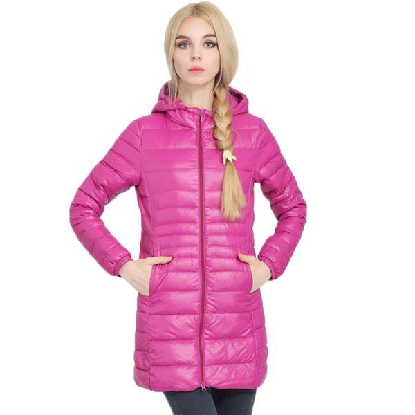 2019 Down Jacket Women Brand Designer Winter Warm Jackets Women's Long Light White Duck Down Jacket 5XL 6XL Ultralight Hooded Coats