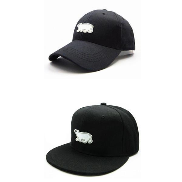 1a0fe7c27 LDSLYJR 2018 Polar bear animal embroidery cotton Baseball Cap hip-hop cap  Adjustable Snapback Hats