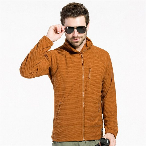 ESDY Outdoor Jacket Men Sports Hiking Camping Autumn Winter Military Fleece Warm Tactical Thermal Breathable High-quality Coat cheap new