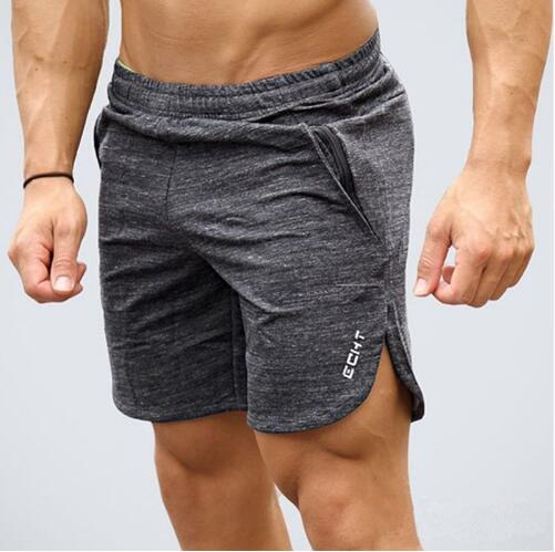 top popular Mens summer new fitness shorts Fashion leisure gyms Crossfit Bodybuilding Workout Joggers male short pants Brand clothing 2019
