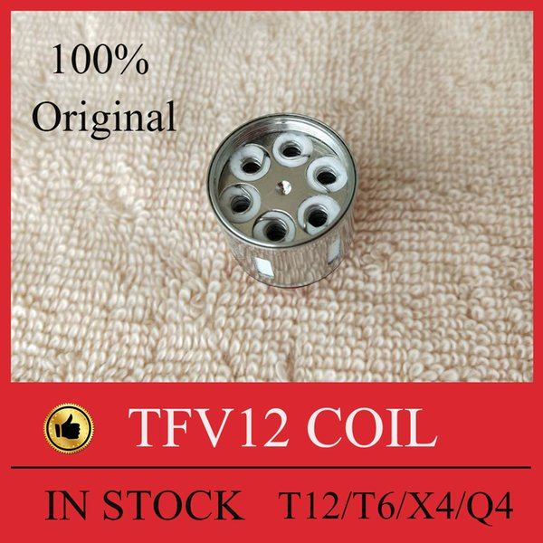 100% Authentic TFV12 Coil prince Head Replacement V12 -T12 T8 T6 X4 Q4 Atomizer Heads Cloud Beast King Vape Cores DHL free
