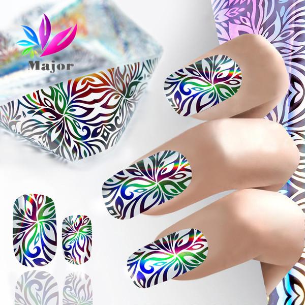2017 Laser olografico lucido Nail Art Foil Laser di carta Nail trasferimento foil art Decorazioni