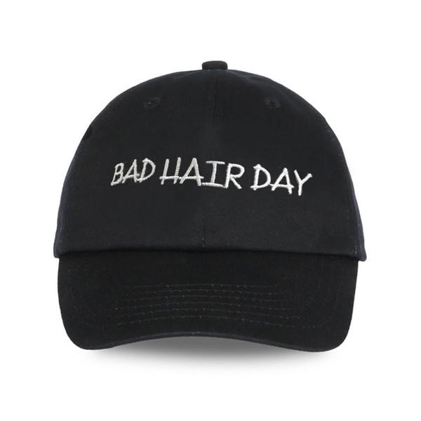 Baseball Cap Men Dad Hat For Women embroidery BAD HAIR DAY Hat Black Sports Full Cap Visor Male Bones Baseball Hats Fitted