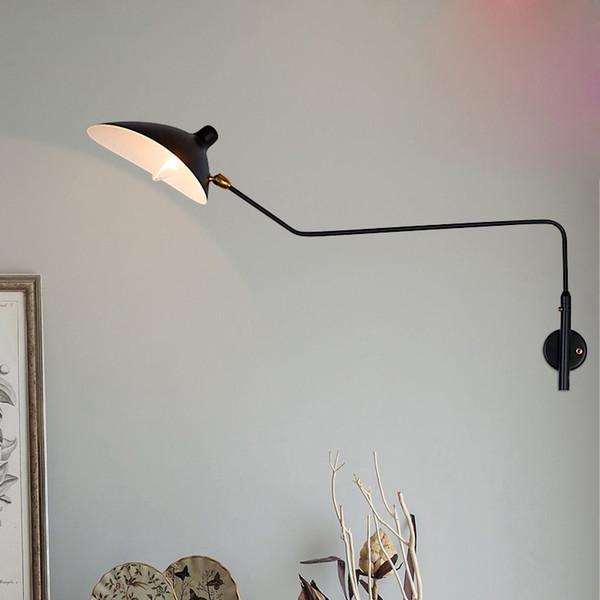 Modrn Wall Lamps Art Retro Loft Rotate 65/95CM Home Decor Wall Lights TV Corridor Long Swing Rod Duckbill LED Sconce Lights