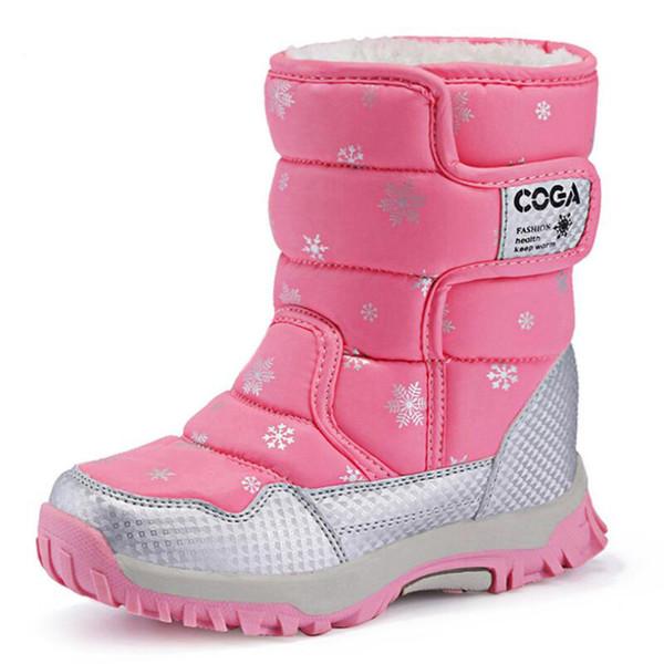 Candy Stiefel Großhandel Winter Warme Lila Skidproof Farbe Futter Schuhe Mädchen Plüsch Rot Schwarz Schneeschuhe Kinder Für Wasserdichte Skhek 80OkwPn