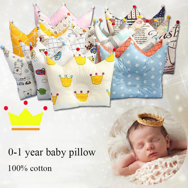 Cotton Baby Shaping Pillow Prevent Flat Head Infants Newborn Boys Girls Sleeping Bedding Pillows Cushion For 0-12 Months Baby
