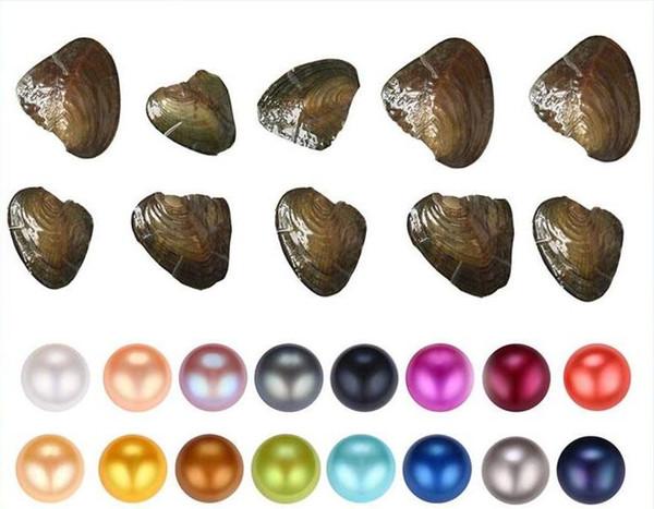Fancy Gift perla Akoya a buon mercato amore conchiglia d'acqua dolce perla ostrica 6-7mm perla ostrica con imballaggio sottovuoto 31 colori