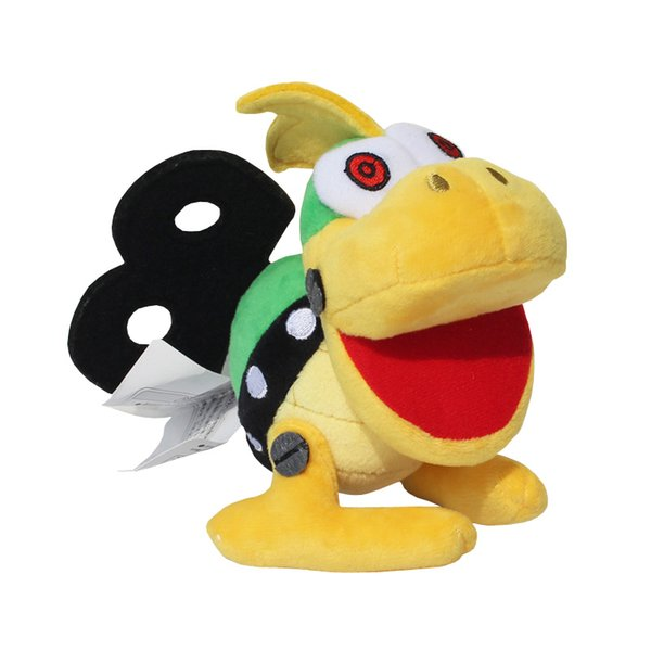 New arrival 100% Cotton 3pcs/Lot 17cm Super Mario Bros Koopa Bowser Koopalings Plush Doll Stuffed Animals Toy For Baby Gifts