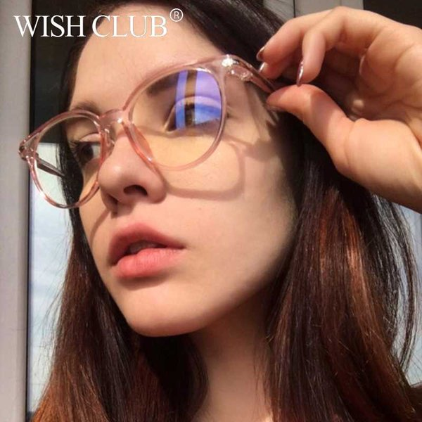 5400ef3ca29c9 CLUBE DO DESEJO Do Vintage Rodada Óculos Claros mulheres Transparente Lente  óculos de Armação Das Senhoras Óculos de Armação Óptica homens presente  Unisex ...