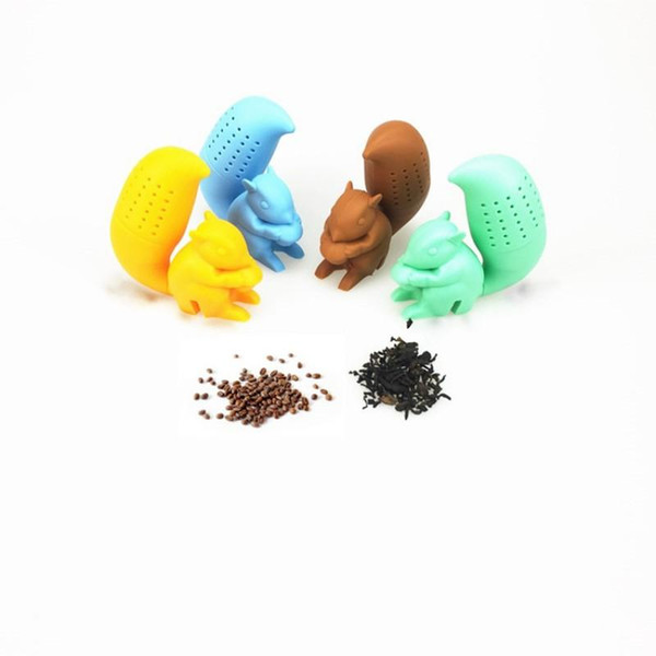 Creative Silicone Tea Strainer Lovely Squirrel Family Necessity Tea Non Toxic Filtering Tool A Variety Of Colors 5 5fr ff