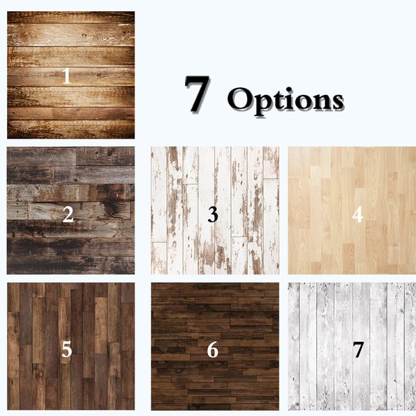 Dark Brown Wood Floor Photography Backdrops Newborn Photo Booth Backgrounds for Photographers Studio Vinyl Photophone Floors 711