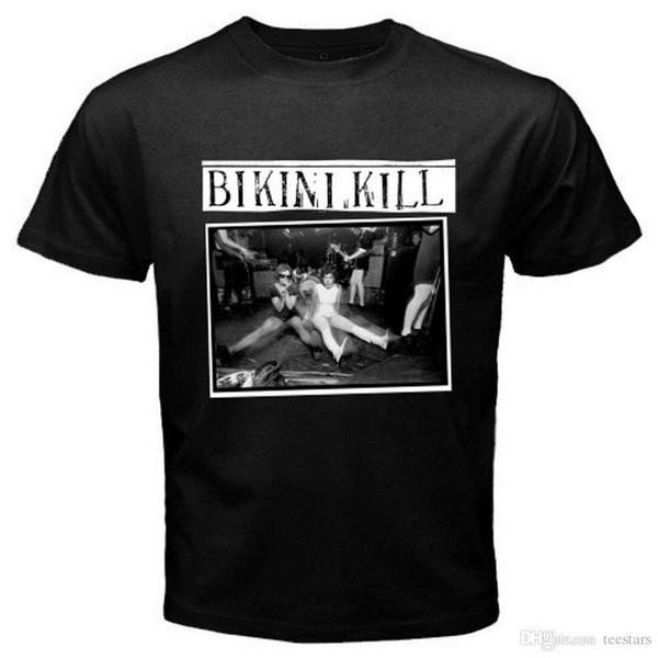 2018 Kurzarm Baumwolle T Shirts Mann Kleidung New Bikini Töten American Punk Rock Band Männer Schwarz T-Shirt Größe S bis 3XL