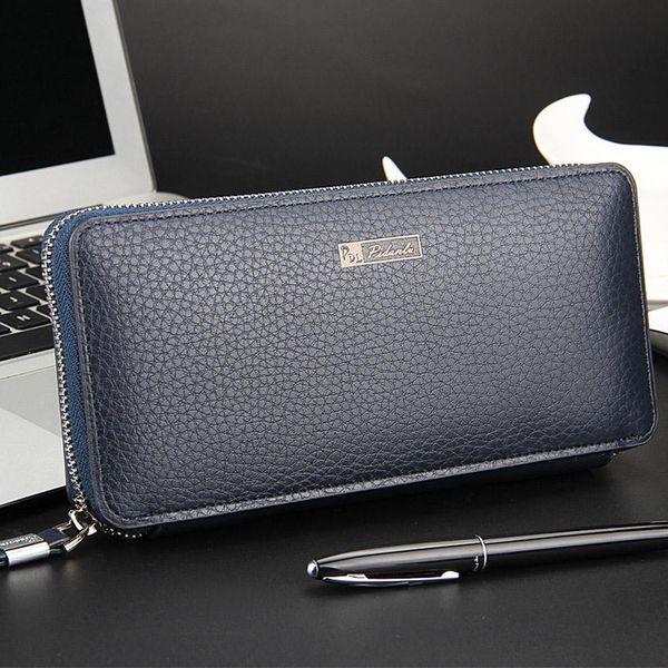2018 New Wallet Mens Long Zipper Coin Purse PU Leather Notecase Business Male Clutch Carteira Phone Bag Masculina men's hand bag
