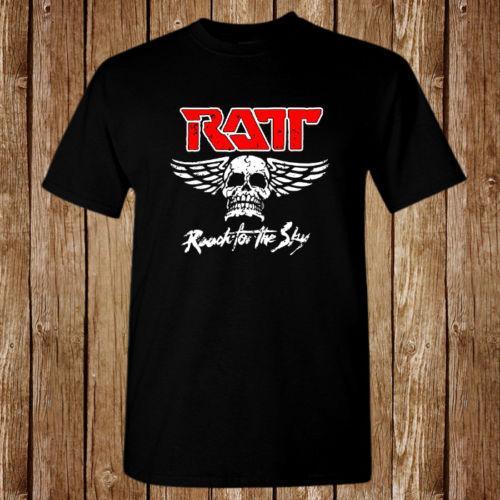 Ratt-Reichweite für das Himmel-Logo-Balck-T-Shirt Freies Verschiffengroßverkauf des Frühlings-Sommers angemessener Großhandelst-shirt Kurzarm