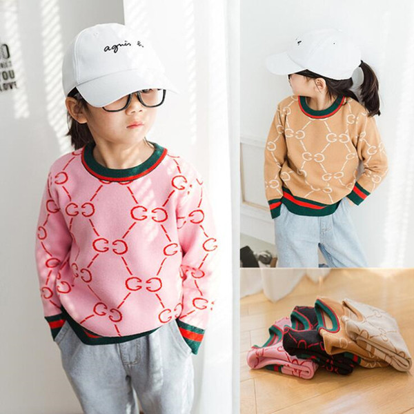 Primavera Outono Bebê Meninas Camisola de Alta Qualidade Kid Malhas Mordidas Camisolas para a Menina de Malha Camisola Pullover Roupas