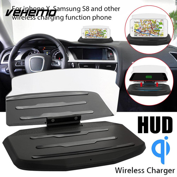 Vehemo DC 5V Phone HUD Stand Head-Up Display Projection Bracket High Performance Wireless Charger Car GPS Holder Automotive