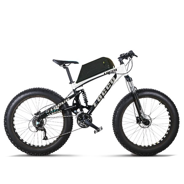 custom 26inch electric bicycle Soft tail full suspension off-road electric mountain 48V 1000w powerful motor fat e-bike MTB