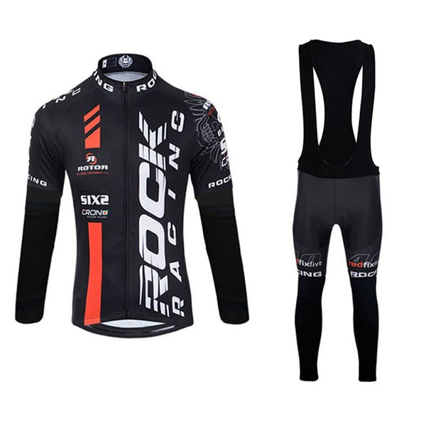 Factory Direct Sale ROCK RACING Men Cycling Jerseys Kits breathable quick dry long sleeve racing bike clothing bicycle sports suit 111408Y