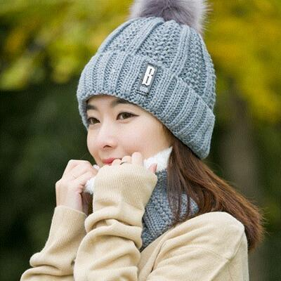 gray Hat and Scarf