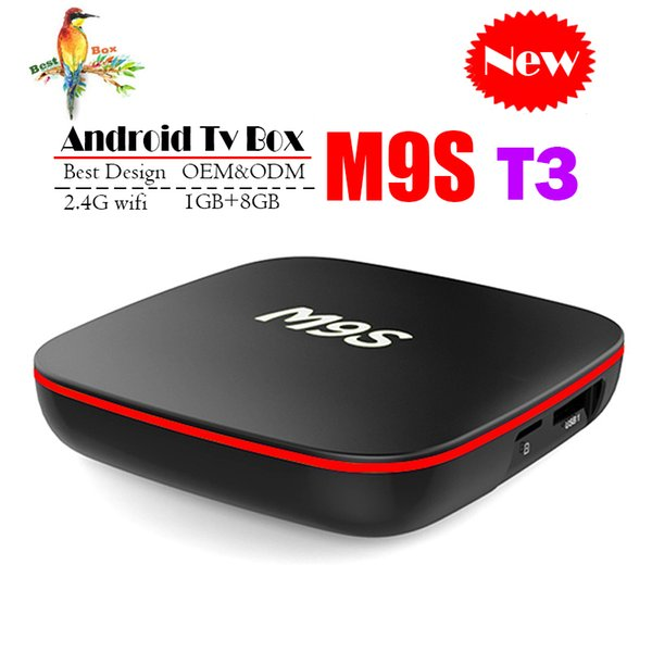Best M9S T3 Allwinner H3 1G 8G Android 7.1 TV BOX Quad Core Ultra HD H.265 4K Stream Media Player Better Amlogic S905W H96 TX3 X96 A95X V88