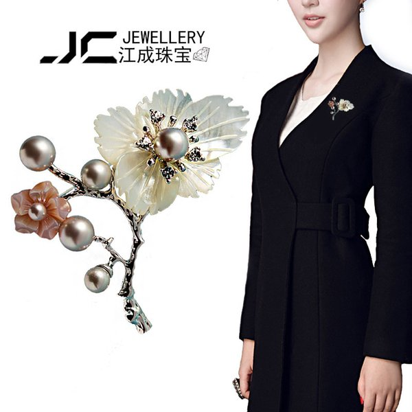 Fashion Brooch Korean Edition Large Flower Man's Suit Brooch Ma'am Rhinestone Shawl Buckle A911