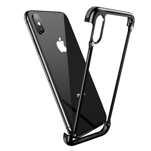 wholesale Metal Frame shape with airbag bumper for iphone XS MAX shockproof phone case shell back cover protect screen and camera
