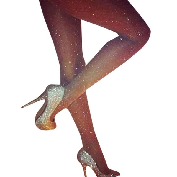 Sexy Women Pantyhose Full Stars Sequined Stretchable Female Fitness Mesh Fishnet Tights Prevent Hook Silk Nylons Medias Femme Z3