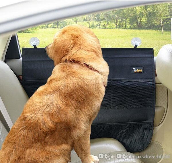 Free shipping Pet Car Door Cover Waterproof Pet Car Protection Pad for Dogs Cats Dirt and Sticky Grasping Fit All Vehicles free ship