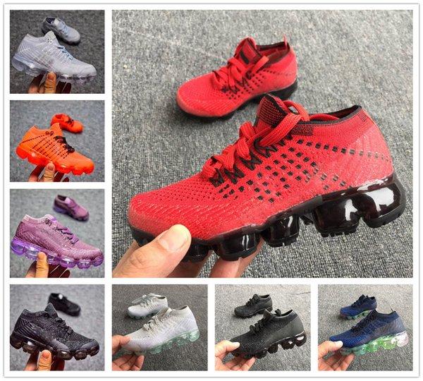 nike air max airmax vapormax 2018 hotsale Gökkuşağı erkek kız Buhar Şok Çocuk Koşu Ayakkabıları Çocuk Rahat hava yastığı Flair Slip-On Spor Ayakkabı ücretsiz kargo