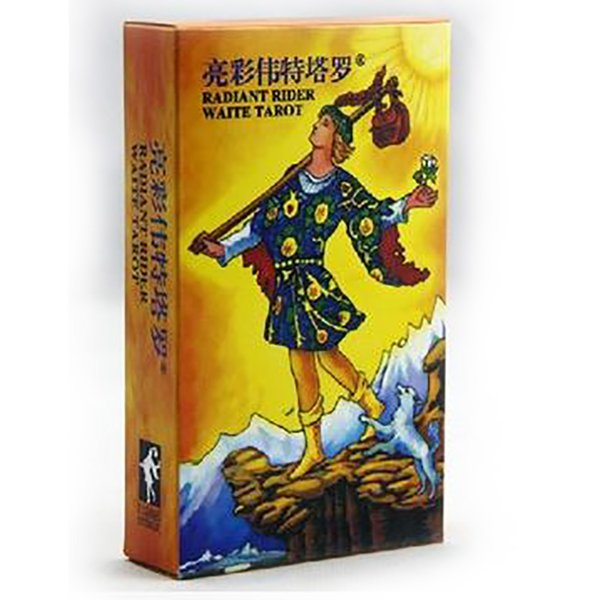 New Radiant Rider Waite Tarot Board Game High Quality Paper 78 PCS Cards Chinese/English Edition for Astrologer