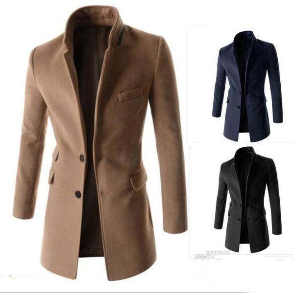 2018 Winter Hot New Men's Fashion Slim Casual Woolen Coat Three-dimensional Self-cultivation Tailoring Unique Design Coat Jacket