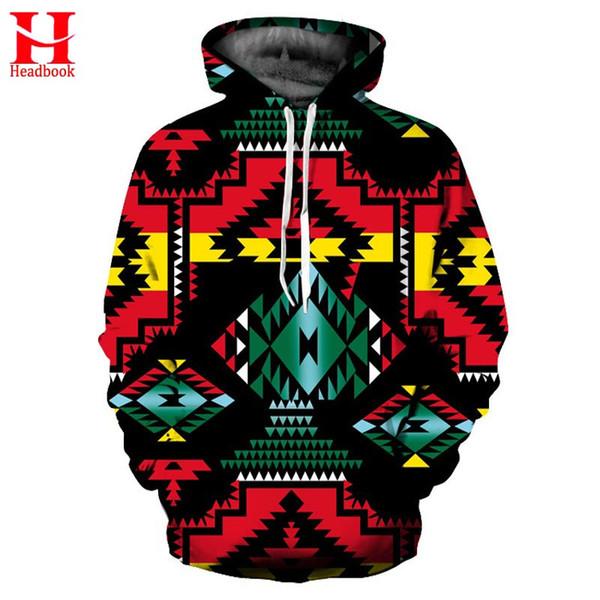 2017 Headbook Geometric Flowers Hoodies Men Women Sweatshirts Spring Winter Hip Hop Hooded Hoodie Fashion Pullover Hoody Tops