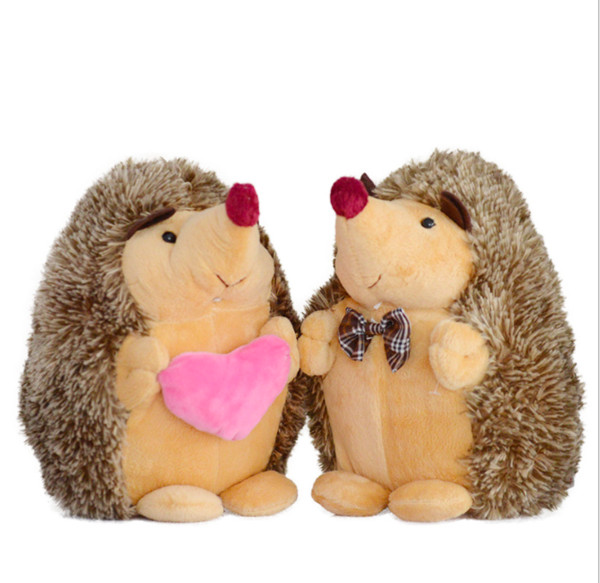 2pcs/lot Cute Lovely Soft Hedgehog Animal Doll Stuffed Plush Toy Child Kids Home Wedding Party Toys for Children Kid gift