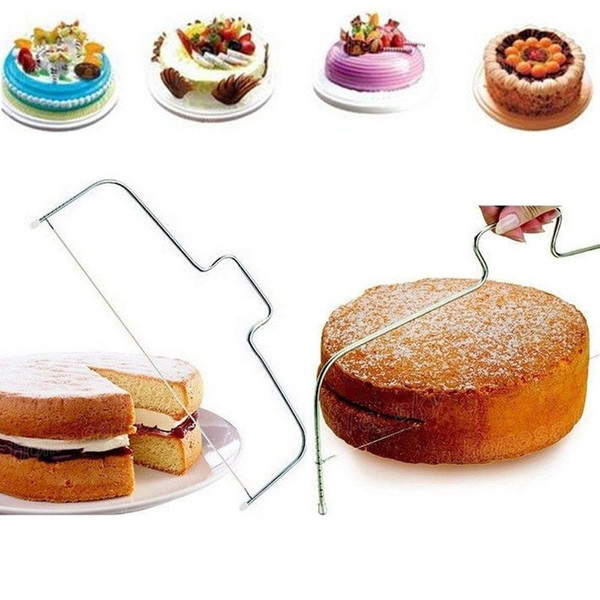 Adjustable Stainless Wire Cake Slicer Leveler Pizza Dough Cutter Trimmer Other Kitchen Tools Baking Tool FFA303