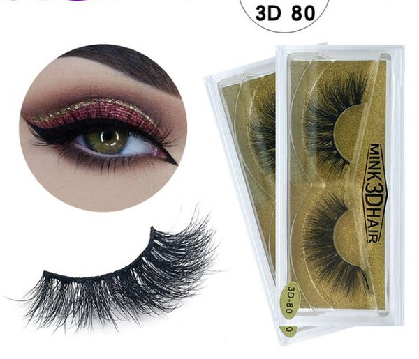 top popular 3d Mink lashes Thick real mink HAIR false eyelashes natural for Beauty Makeup Extension fake Eyelashes false lashes 80 Models A181 2020