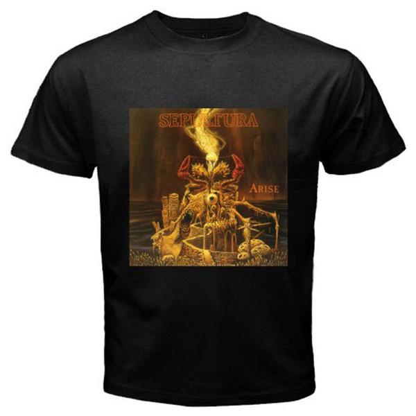 Nouveau T-Shirt Homme Noir SEPULTURA ARISE Death Metal Band Taille S-3XL