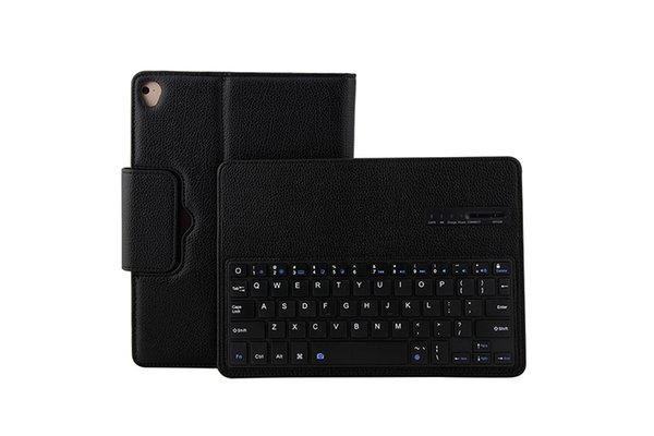 30PCS Litchi Leather Case with Bluetooth Keyboard Cover for New iPad 9.7 2017 2018 iPad PRO 9.7 Air Air 2 IP071+Stylus