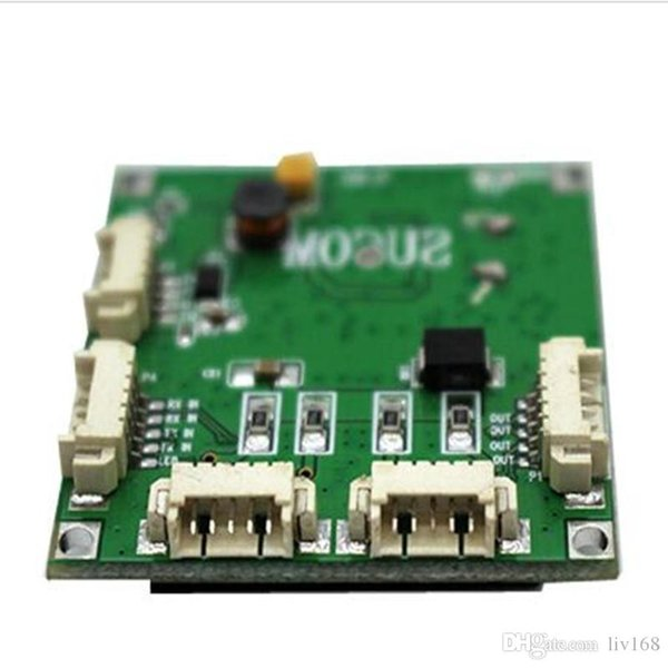 OEM PBC switch module motherboard custom screw hole OEM mini size 4 ports Network switches PCB Board mini Ethernet 10/100 Mbps OEM / ODM