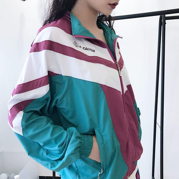 18fw Net Red Section Campus Wind Shoulders Color Matching Retro School Uniform Jacket Men And Women Couple Jacket M Xxl Hockey Jackets Cheap Jacket