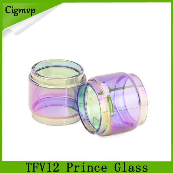 TFV12 prince glass rainbow 8ml Extended Bulb Fat Boy Pyrex Replacement Glass Tube for TFV12 Prince tank atomizer DHL Free Shipping 0266182