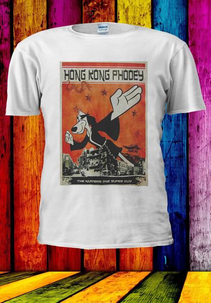 Hong kong phooey número um super guy t-shirt colete regata homens mulheres unisex 566 t shirt dos desenhos animados homens unisex nova moda