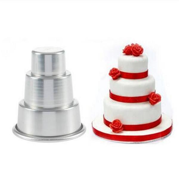 2020 all'ingrosso fai da te Mini 3-Tier bigné Pudding di cioccolato torta muffa della vaschetta di cottura della muffa della muffa del partito della torta