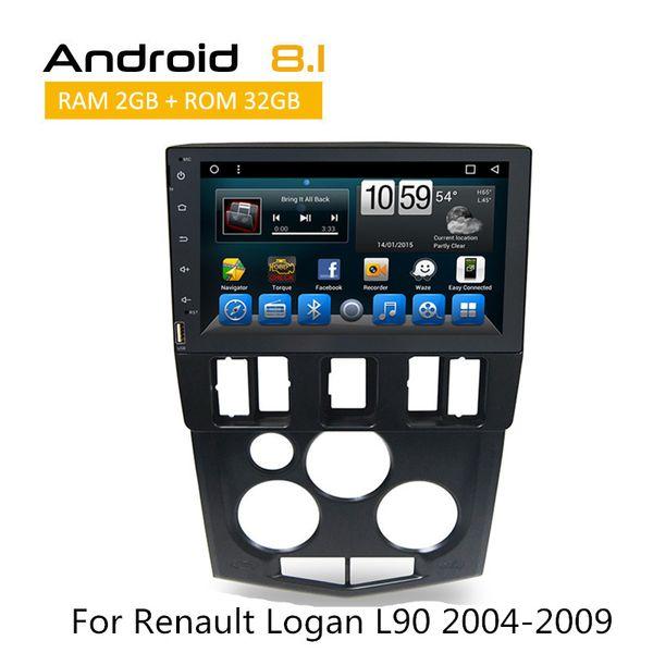 2 Din In Dash Stereo Multimedia Car DVD Audio Video Receivers Renault Logan L90 2004 2005 2006 2007 2008 2009