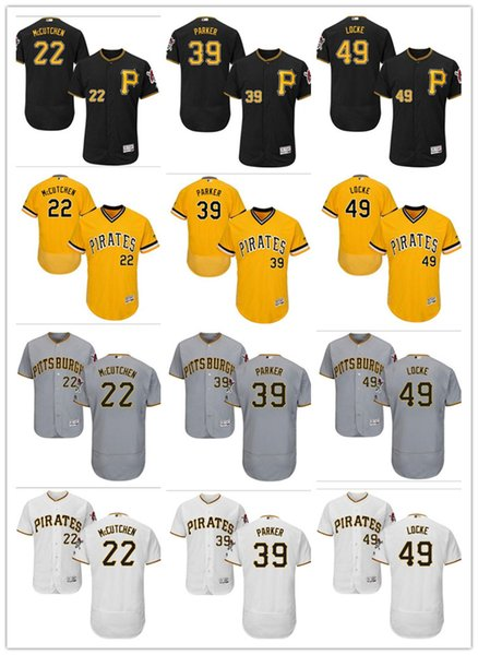premium selection 93718 2f946 2019 Custom Men'S Women Youth Pittsburgh Pirates Jersey #22 McCutchen 39  Dave Parker 49 Jeff Locke Yellow Grey White Baseball Jerseys From Gzf606,  ...